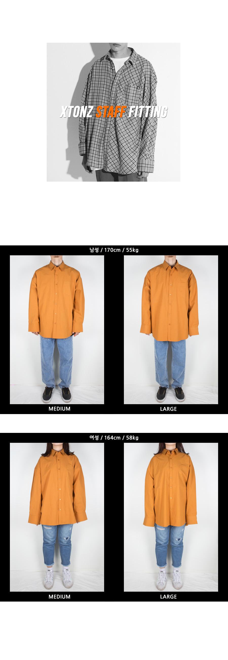 엑스톤즈 XTS002 도로시 오버핏 셔츠 (MUSTARD)