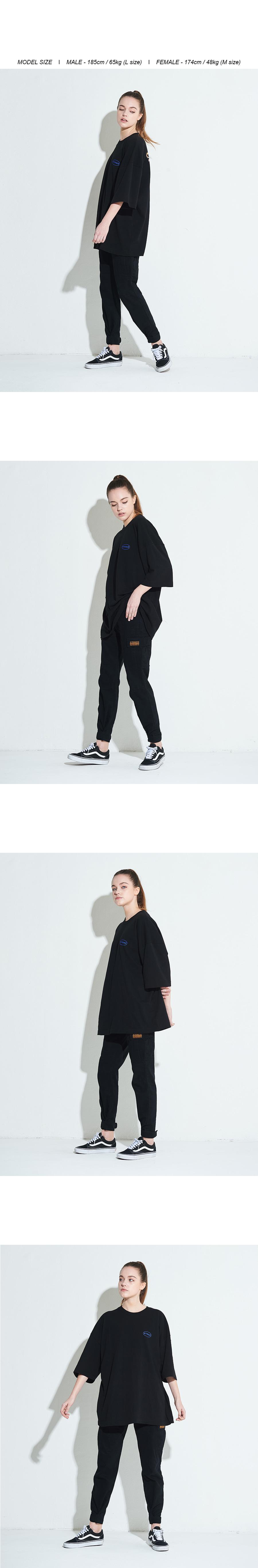 엑스톤즈 XTT006 이테르 오버사이즈 티셔츠 (BLACK)