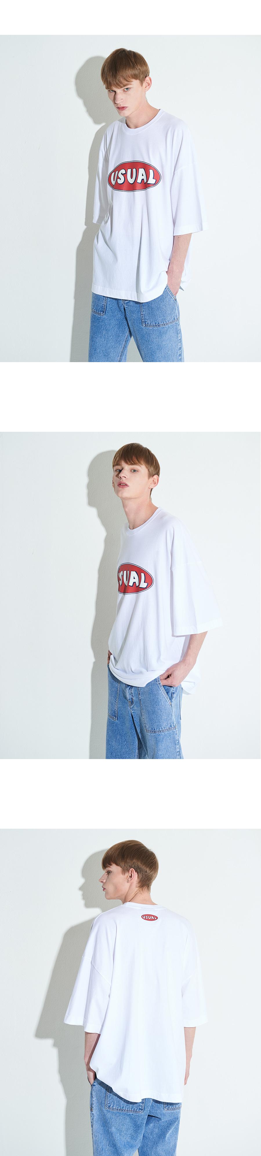 엑스톤즈 XTT010 주디스 오버사이즈 티셔츠 (WHITH)