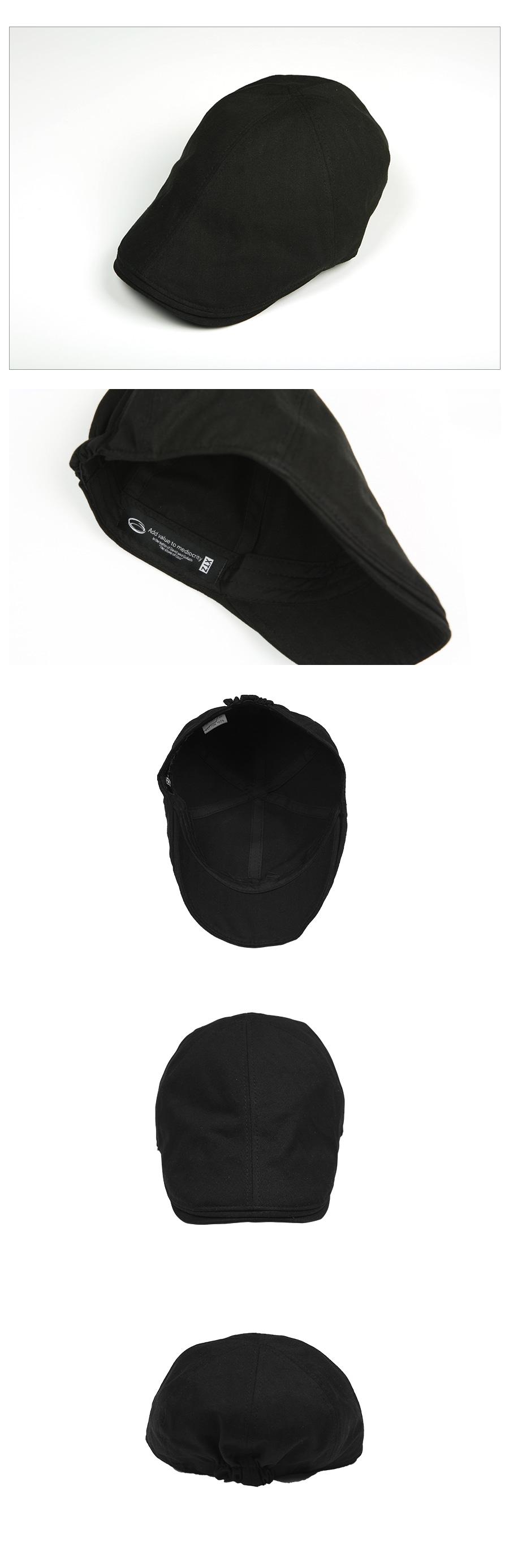 XTC007 헤링본 헌팅캡 (BLACK)