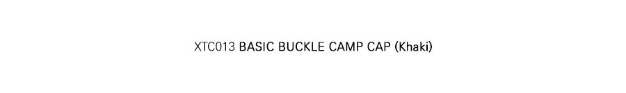 XTC013 베이직 버클 캠프 캡 (KHAKI)