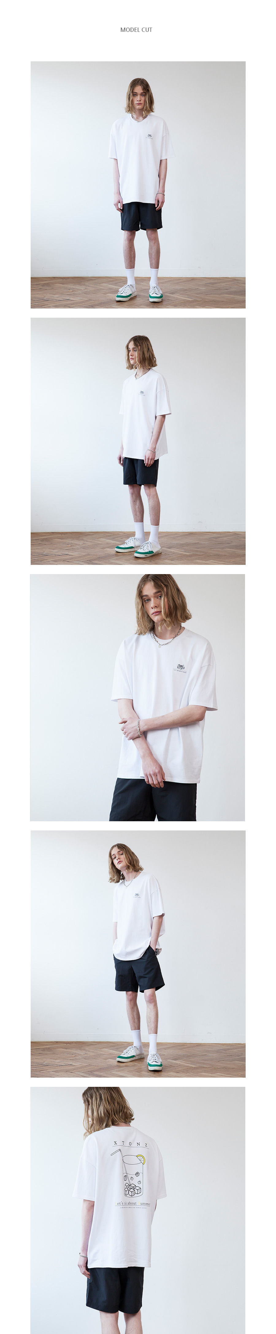 XTT015 아이스 큐브 반팔 티셔츠 (WHITE)