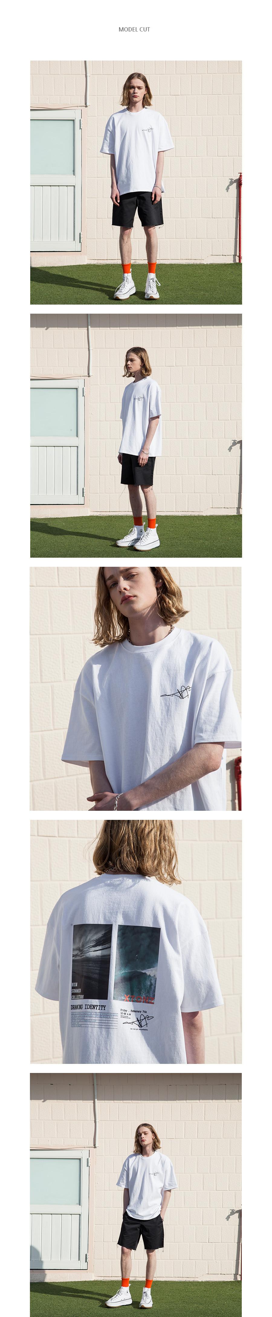 XTT020 레트로 썸머 반팔 티셔츠 (WHITE)