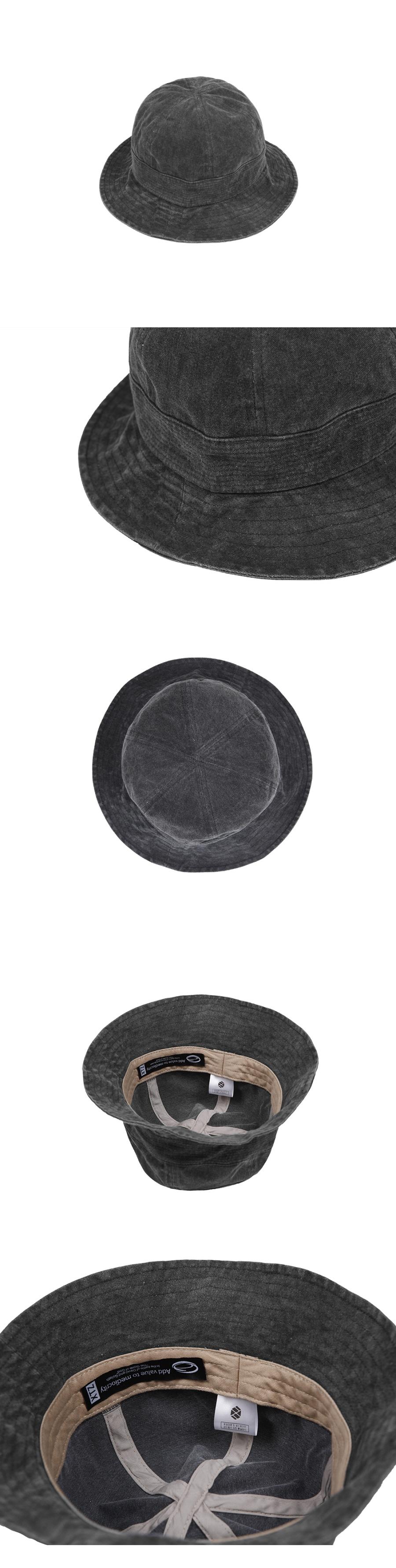 XTC024 피그먼트 버킷햇 (BLACK)